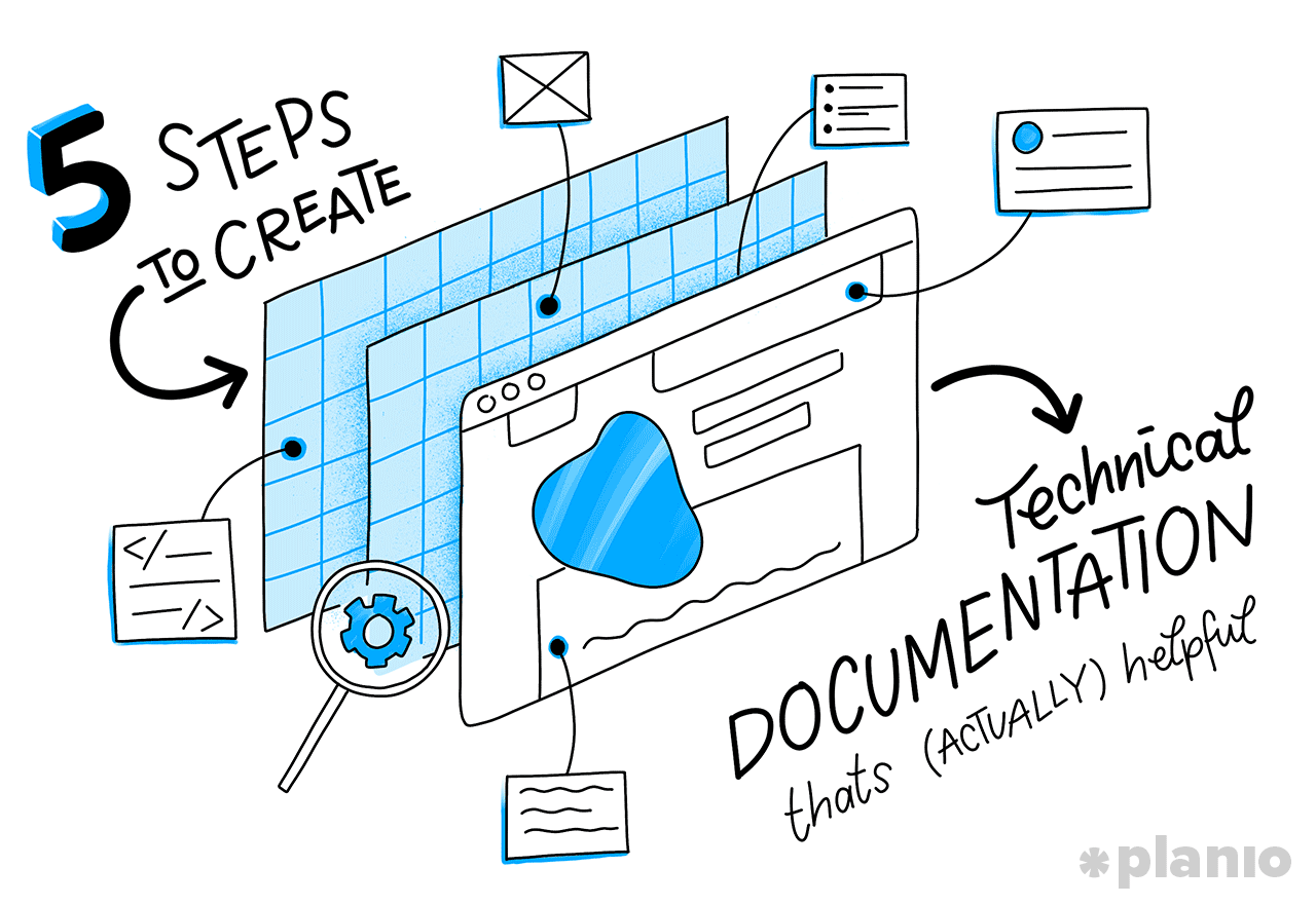 5 setps to create technical documentation