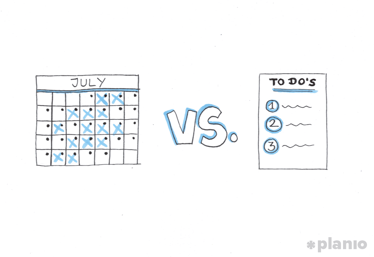 Calendar instead of to-do lists