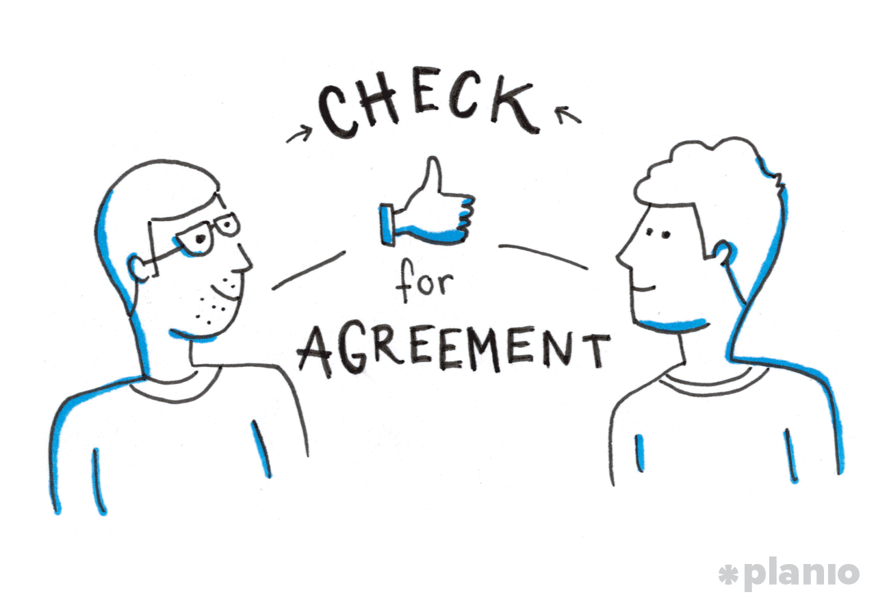 Check for Agreement