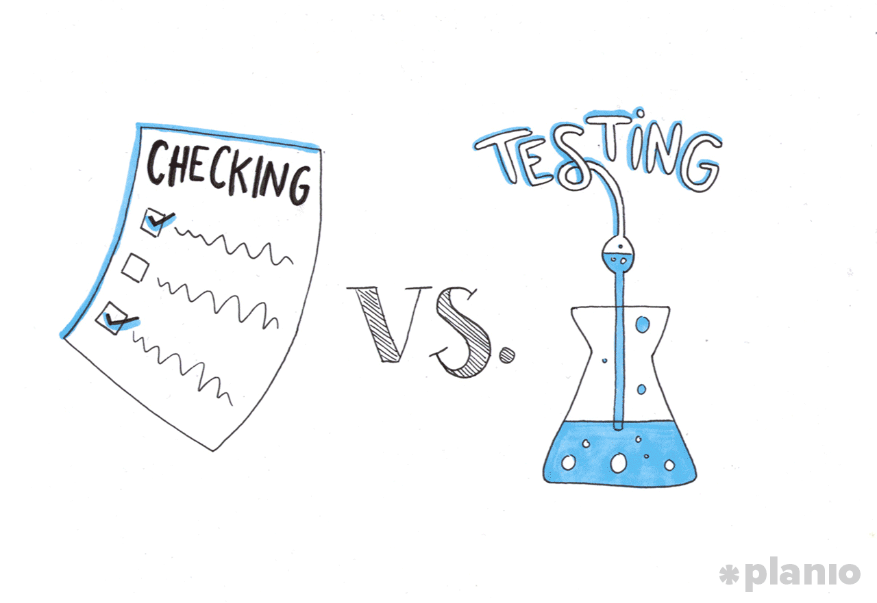 Checking versus Testing in QA