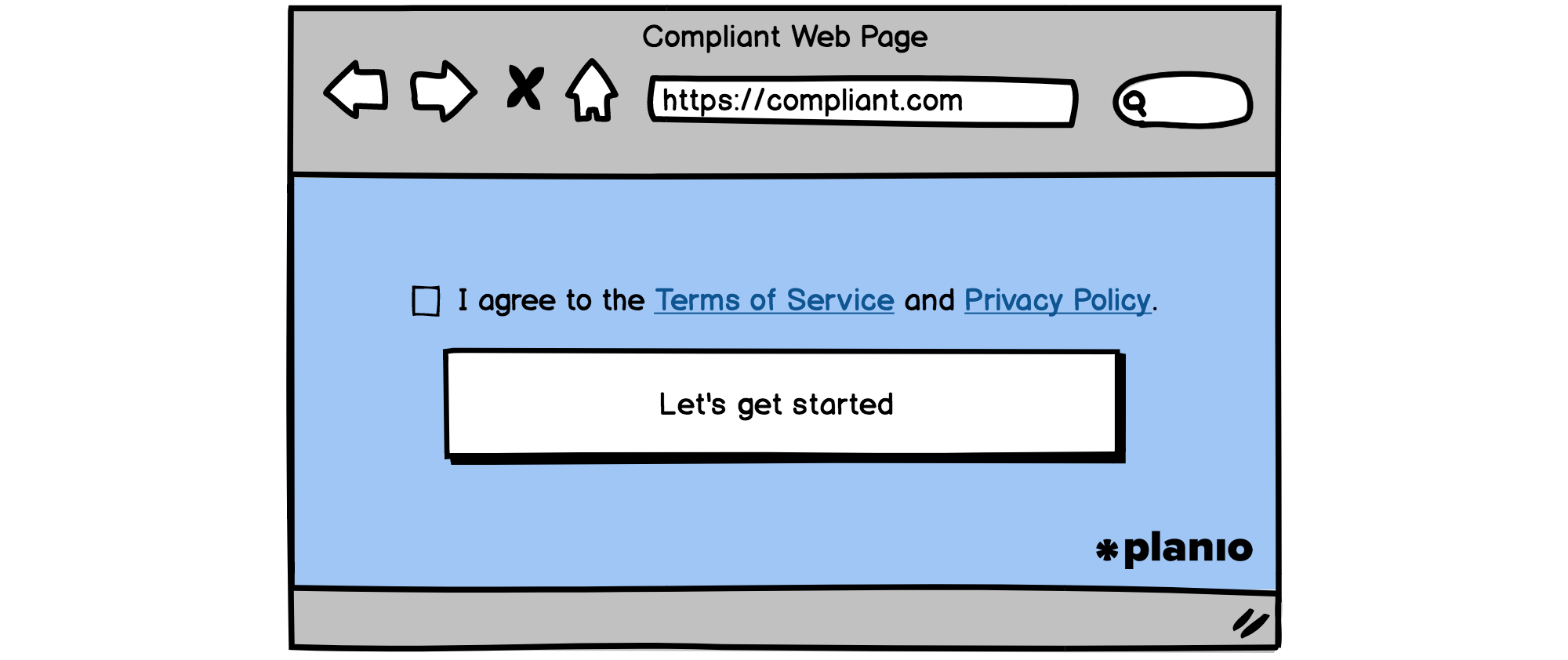 Compliant sign-up form