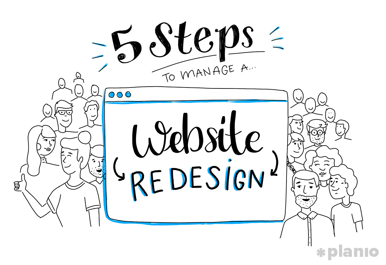 Manage a website redesign