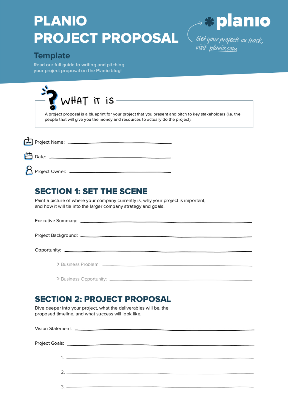Project proposal template preview