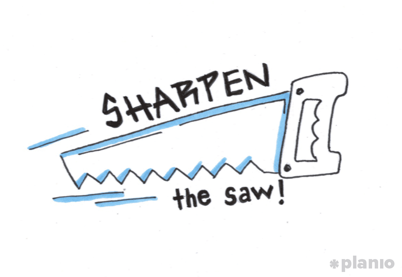 Sharpen the saw