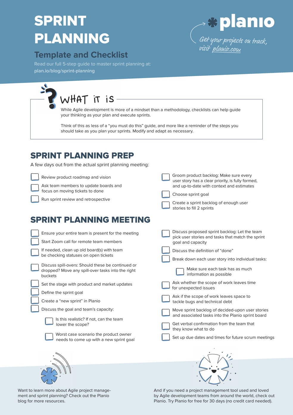 Sprint planning template