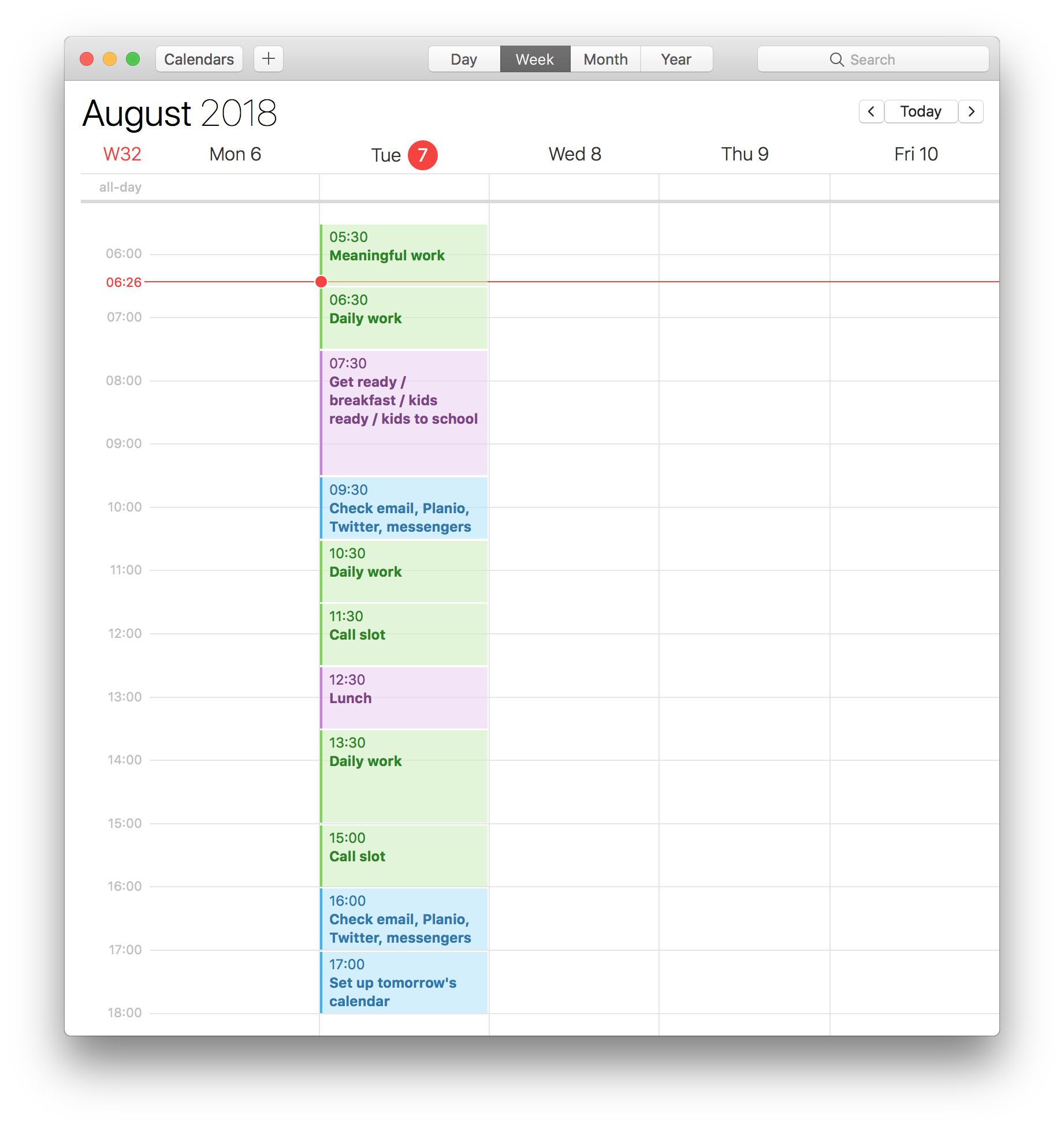 Superbooked Calendar Template