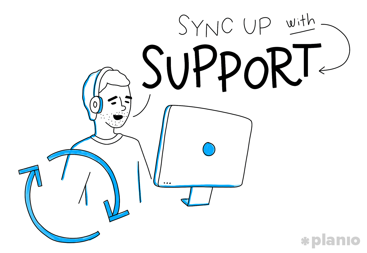 Sync up with Support