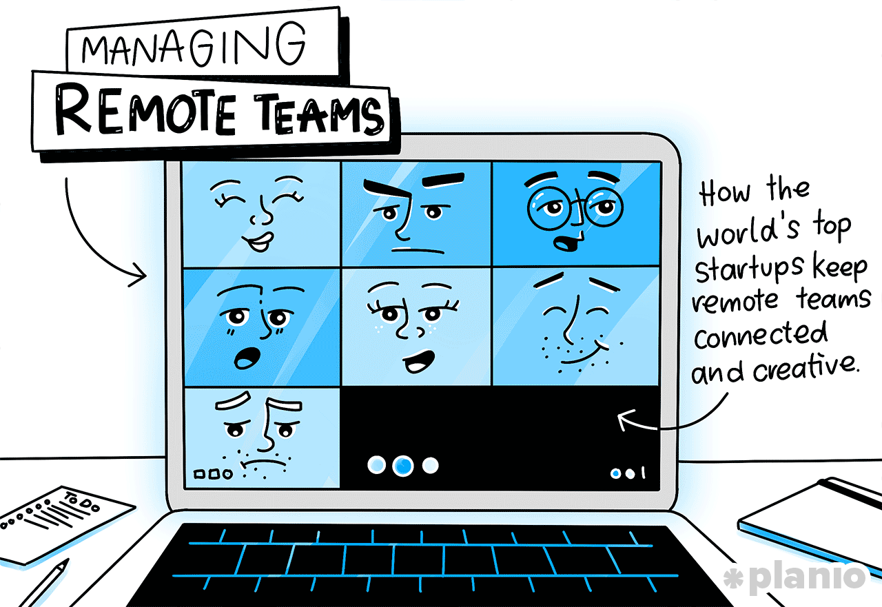 Title managing remote teams