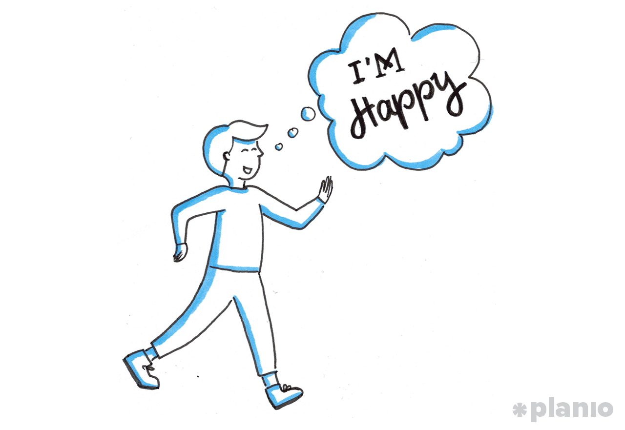 An upbeat walk helps your mood