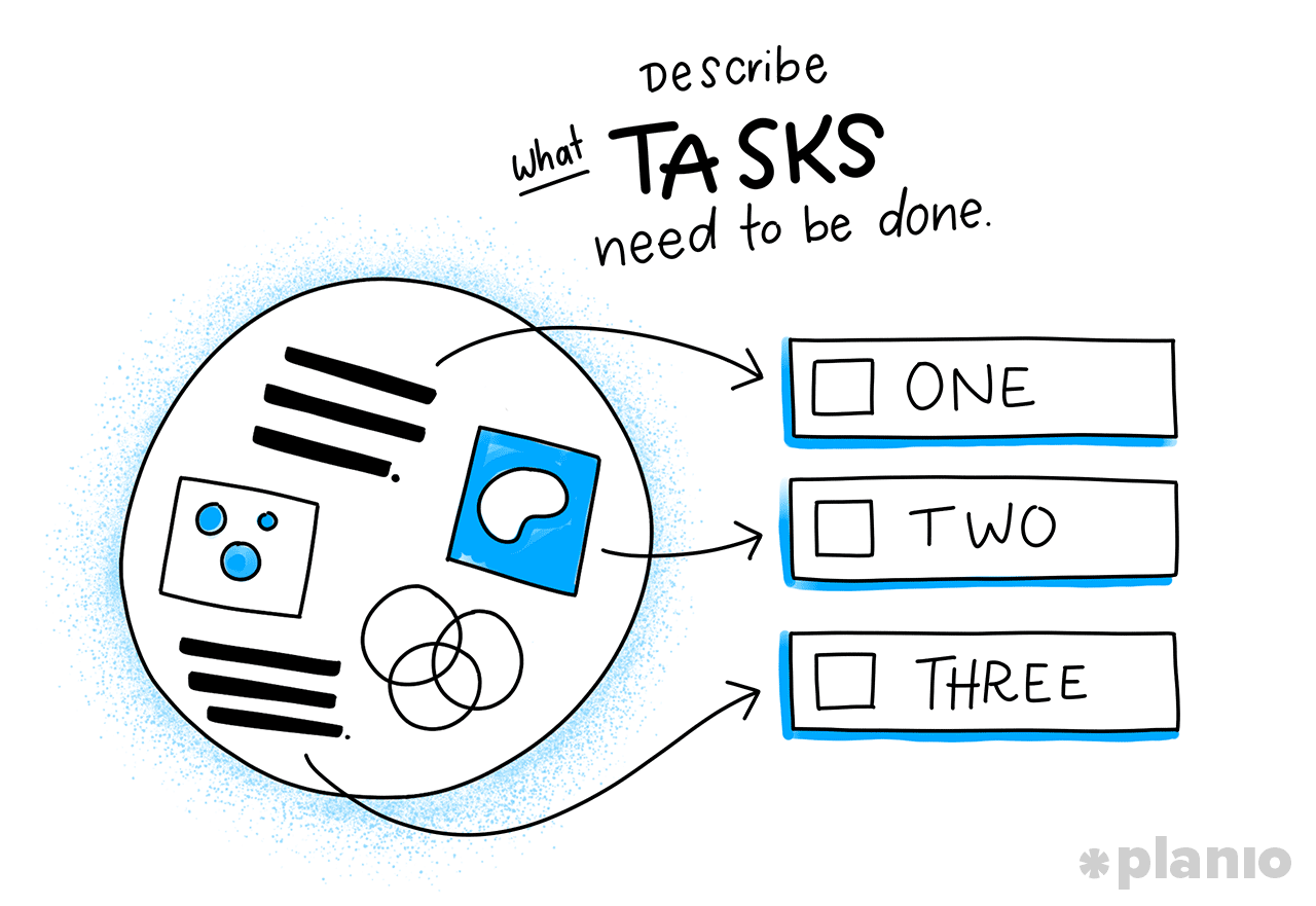Describe what tasks need to be done