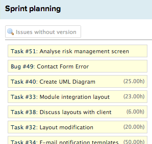 Backlog and sprints on one page