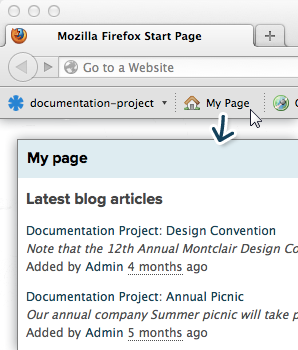 Using the Firefox Toolbar