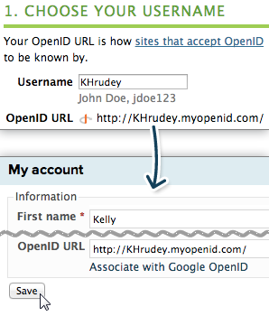 Creating and configuring an OpenID