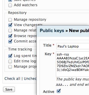 Setting up repository permissions and public keys